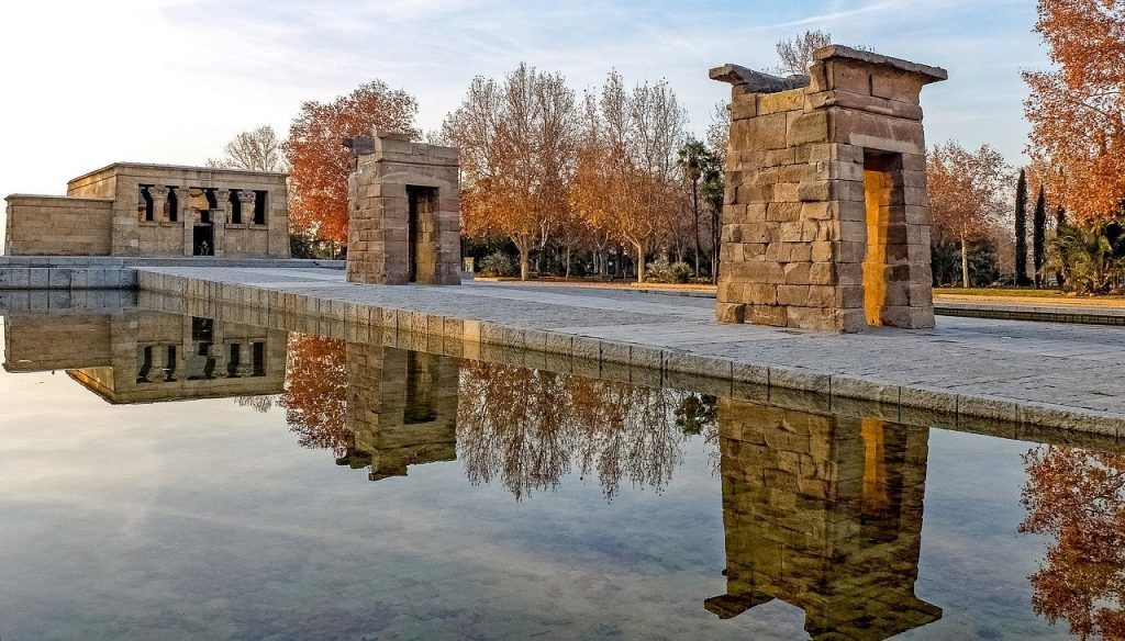 El Templo de Debod - Parques de Madrid